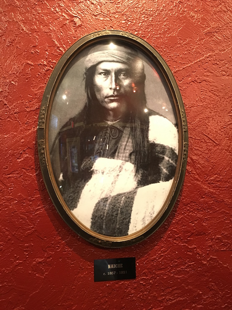 The photo of Naiche, son of Cochise, hangs reverently on the wall.