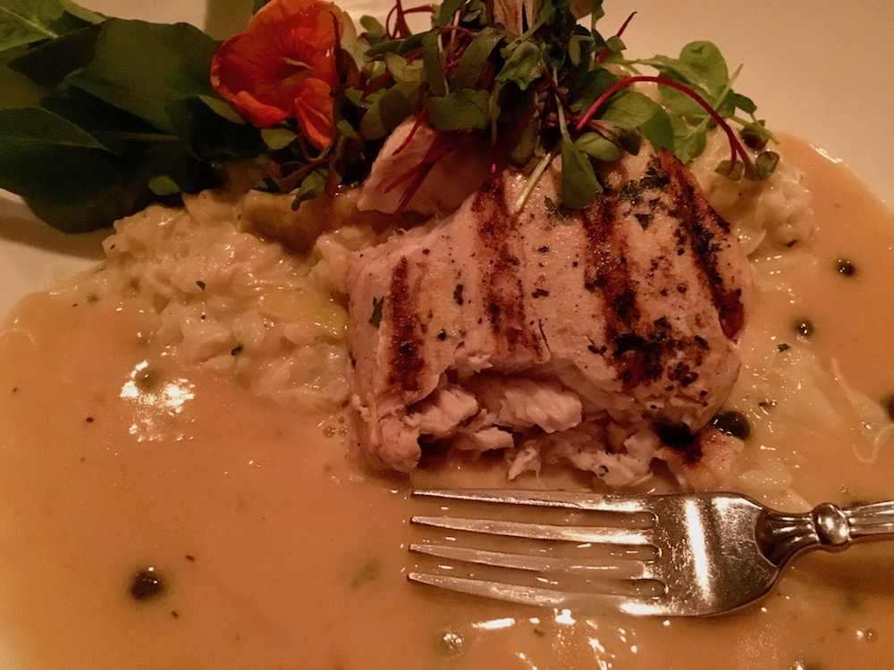 The swordfish was delicious. The combinative flavor profile delights.