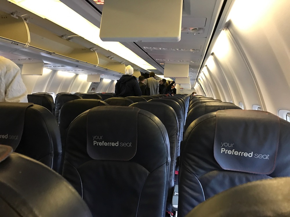 Plenty of overhead storage space on this flight today...