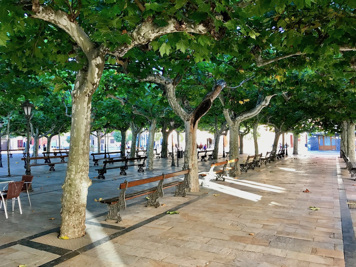 The square in the center of Fuenmayor is idyllic.