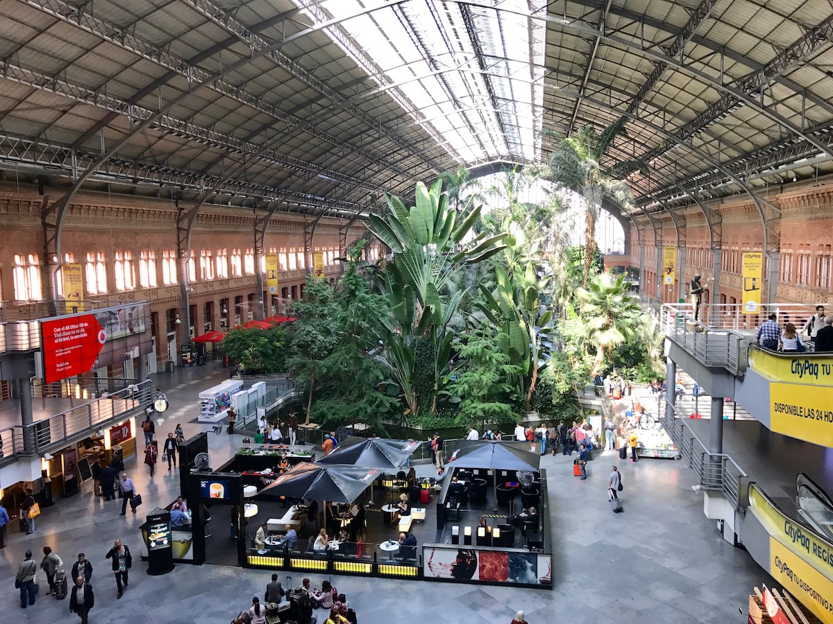 Atocha's main hall is as expansive in the world of railway stations as Barajas Terminal 4 is in the world of airports.