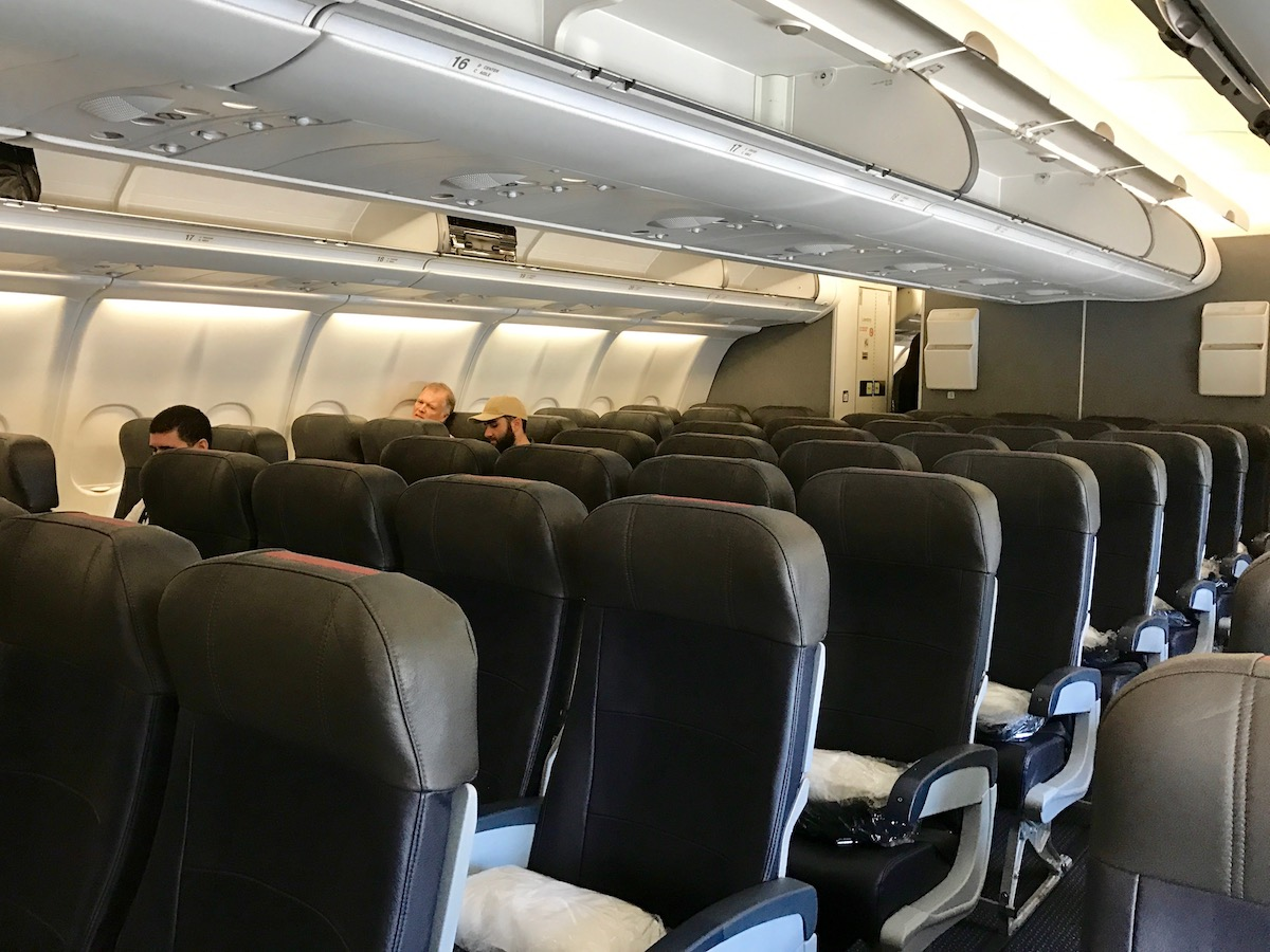 The economy cabin is reasonable. The two seats in the very center aren't great, but the four seats in each row that have either window or aisle access are nice.