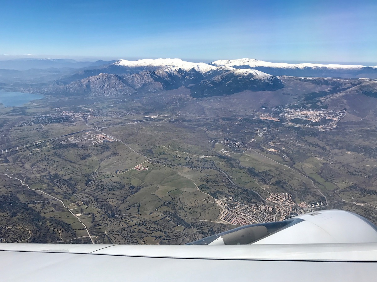 """The worst part about the view soaring away from Madrid is the """"away"""" part :-("""
