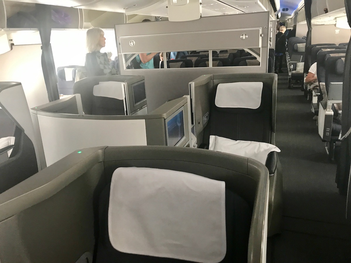 British Airways business class is not highly reviewed, though for once I am dying to try the middle seat. Looks cozy.