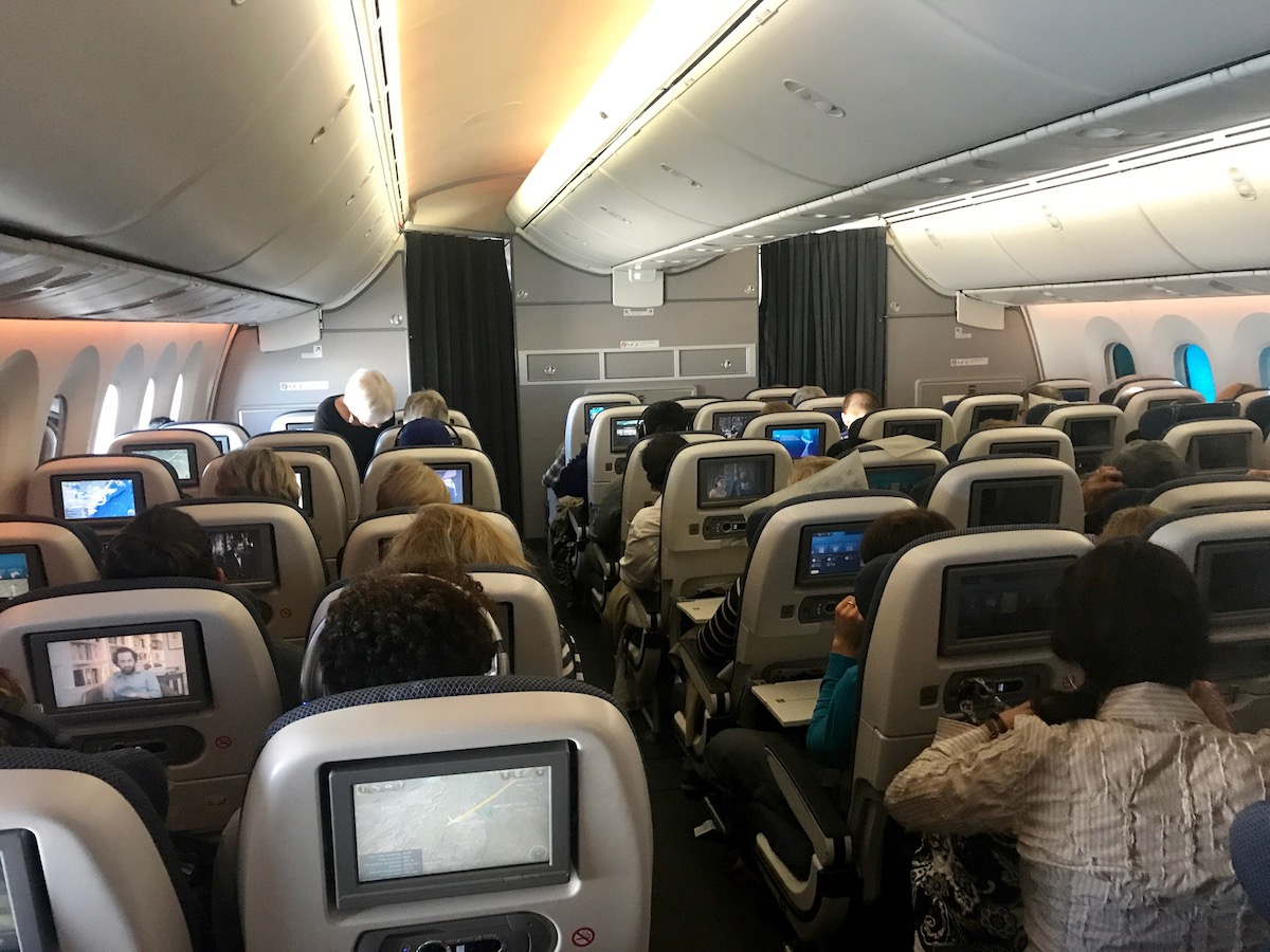 I much prefer the seating arrangement aboard the Boeing 767 or Airbus A330, in which there are only two seats next to each window.