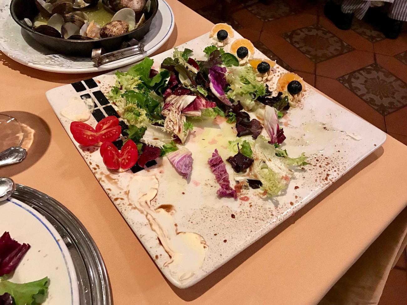 It was a beautiful salad...