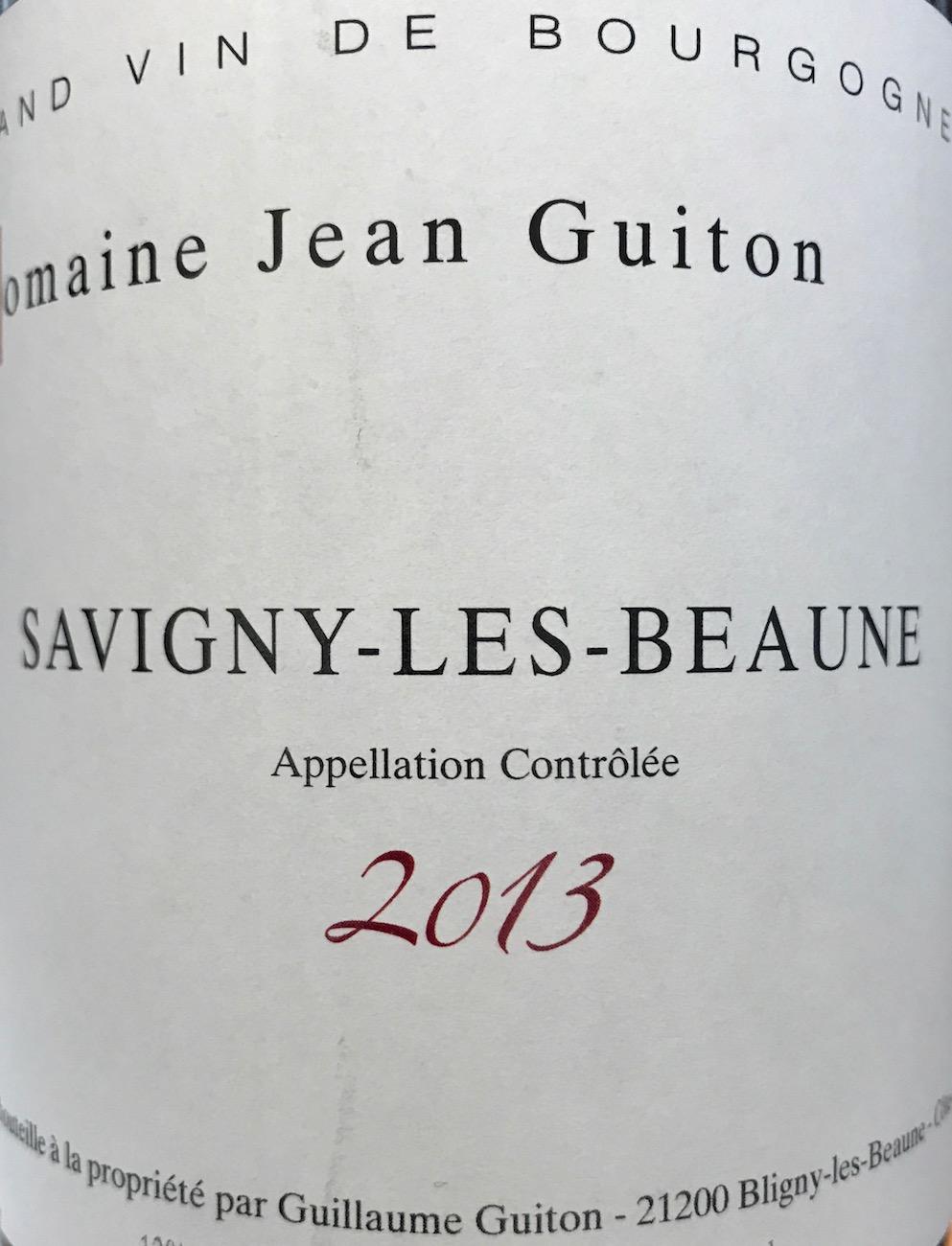 Jean Guiton Savigny-lès-Beaune