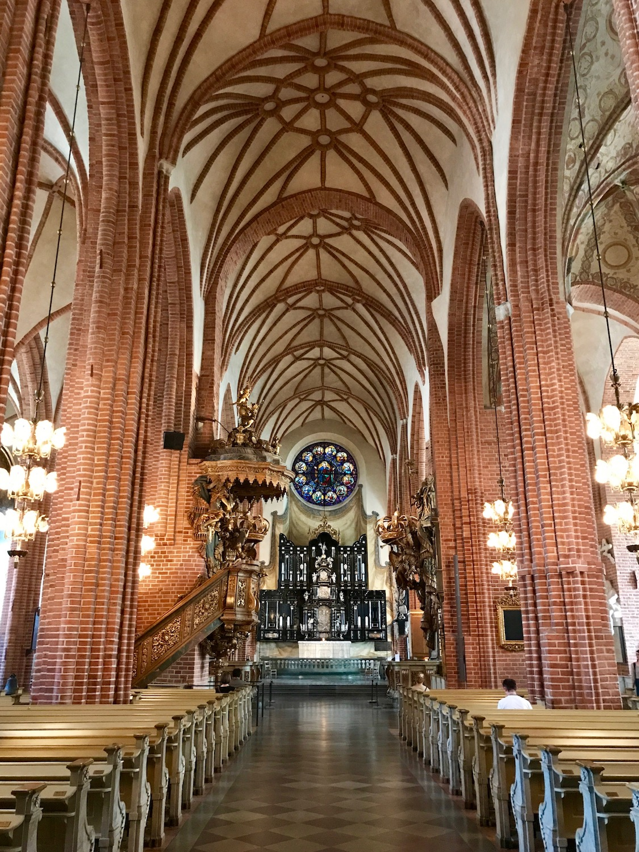 Brickwork inside Storkyrkan