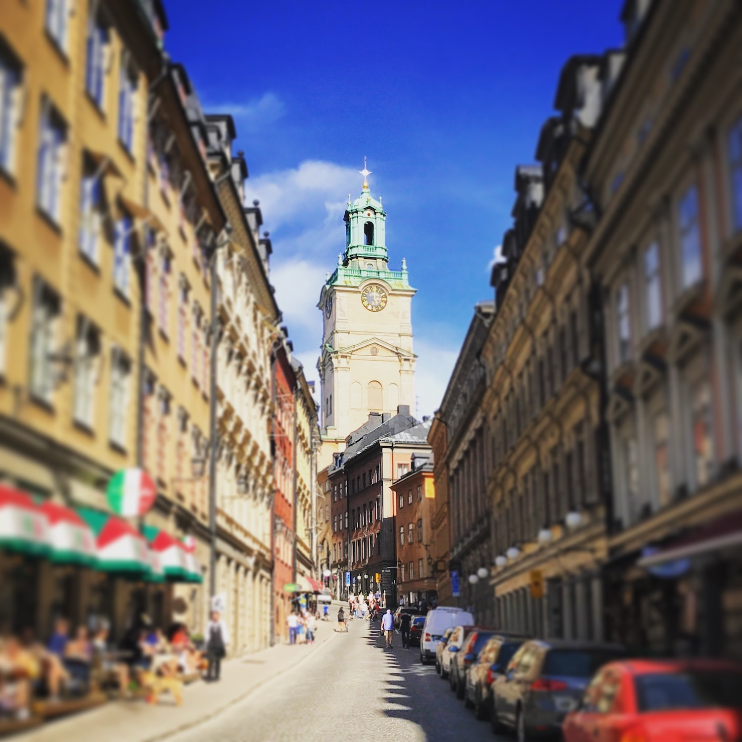 Up the street to Storkyrkan