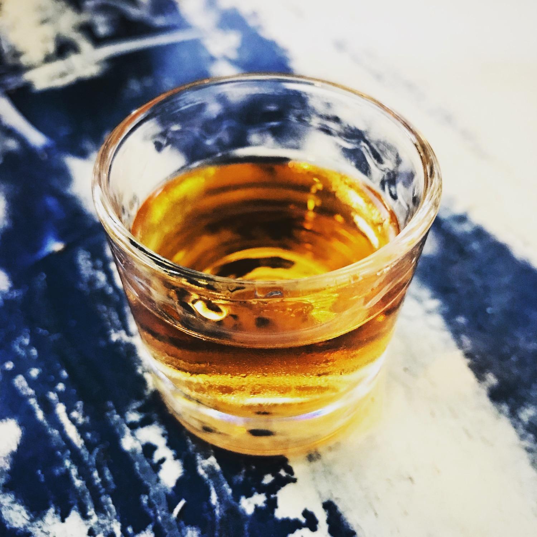 An aperitif of honey rum