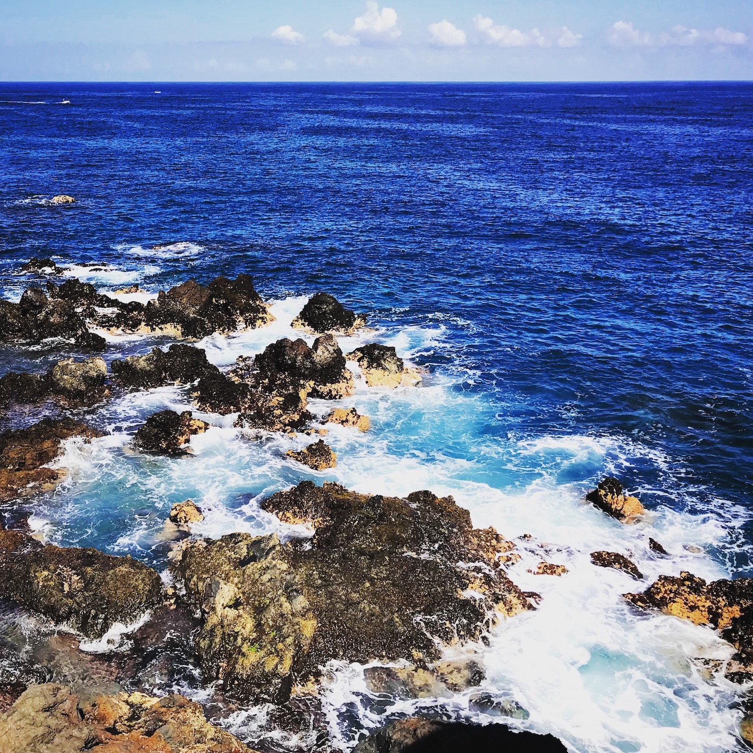 Rough surf and volcanic rock on Tenerife