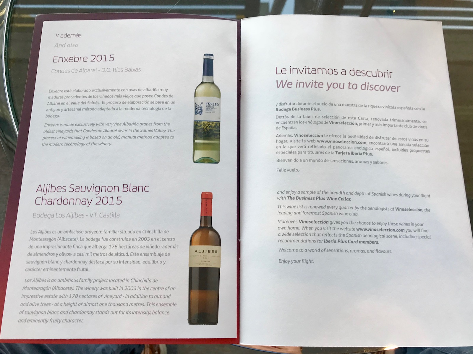 We particularly appreciate the attention that Iberia has paid not just to the in-lounge Spanish wine selection, but also to sharing and educating travelers with these little books.