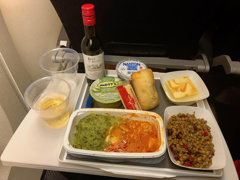 Dinner in-flight
