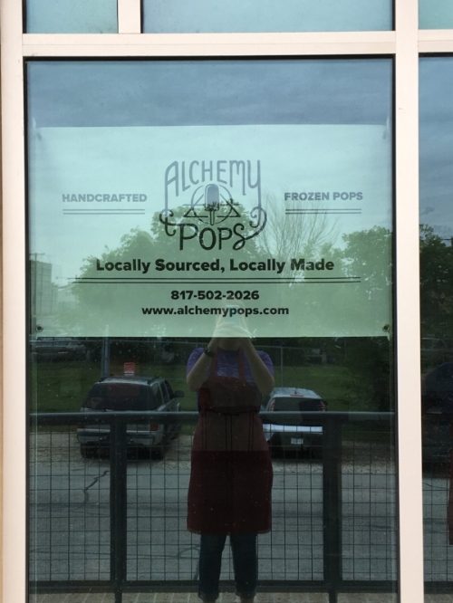 We were so excited to hang our first sign on the door!