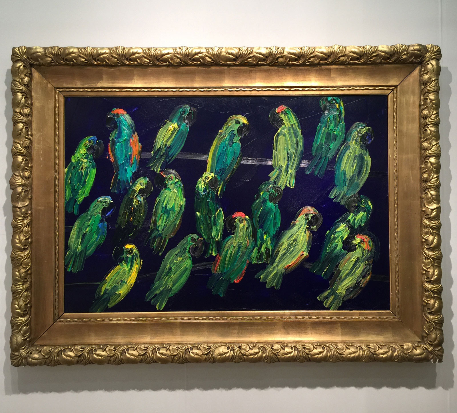Hunt-Slonem-Amazons-Night-Sea-oil-canvas-New-York-Art-expo.jpg