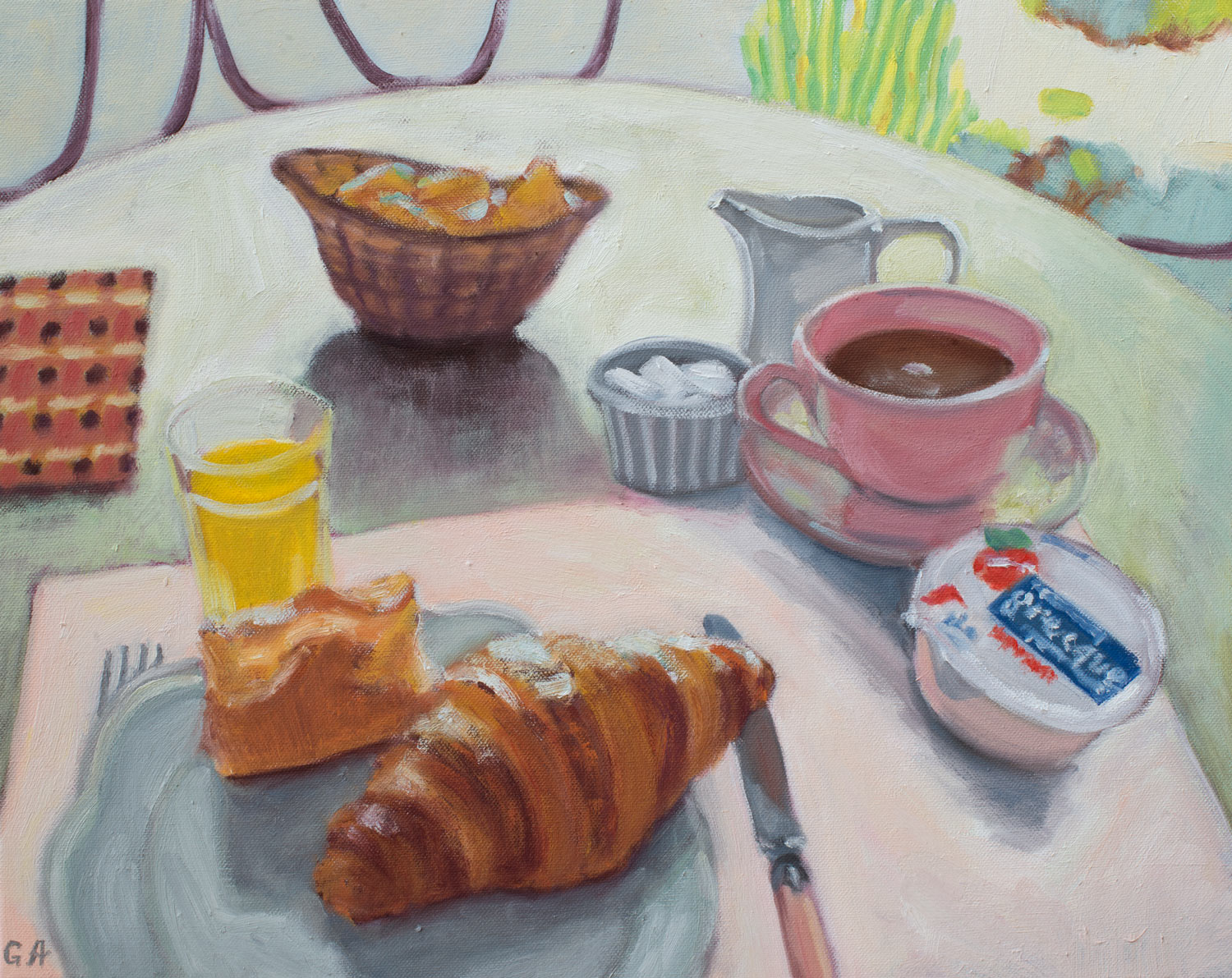 Breakfast-With-Croissant-Giselle-Ayupova-oil-painting.jpg