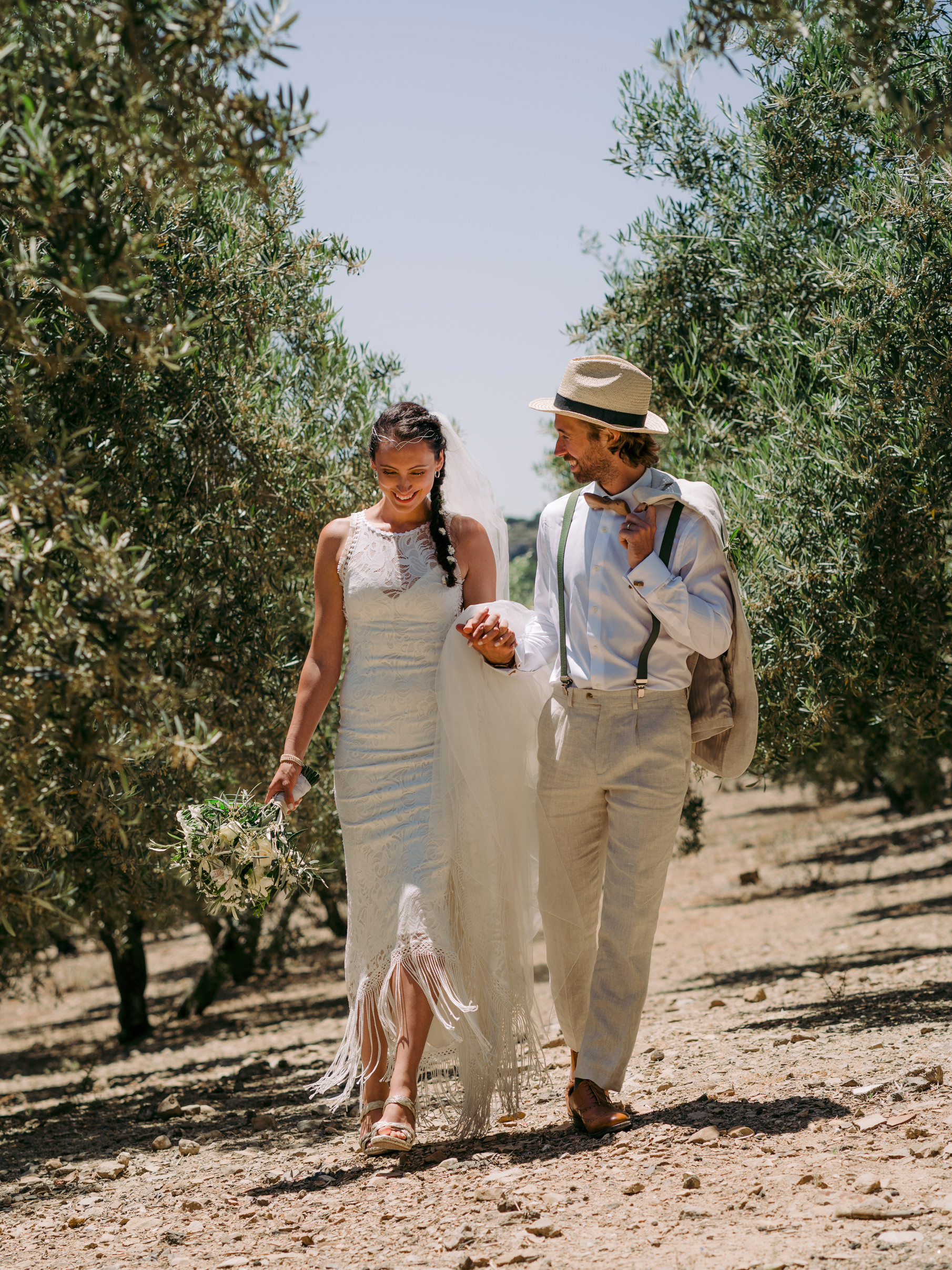 Wedding in Malaga Olive trees