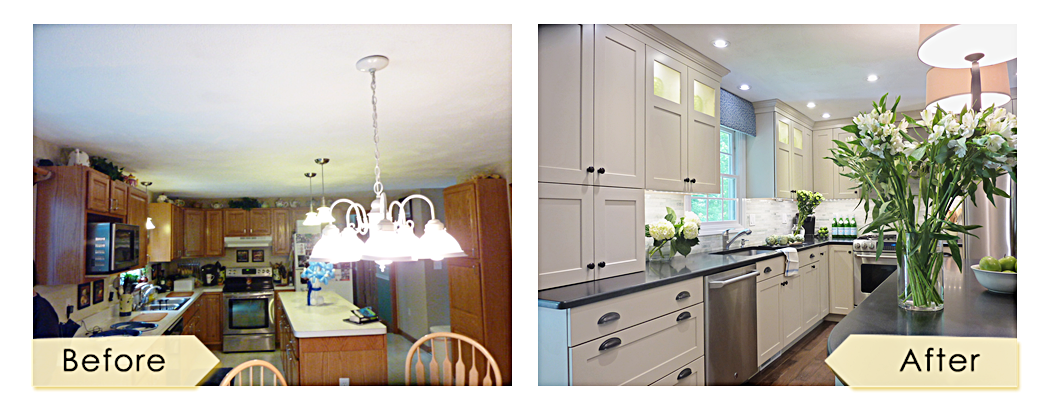 Residential Kitchen Design Renovation by Lisa Jensen Interior Design Newburyport MA