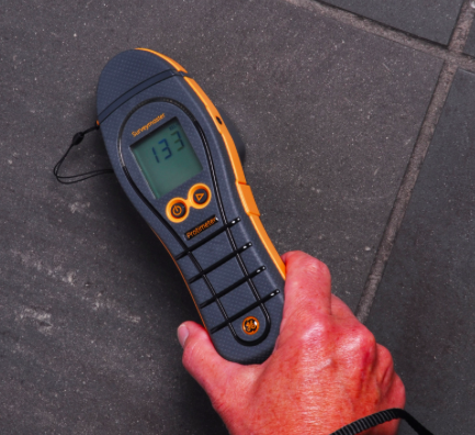Surveymaster Moisture Meter This unique Surveymaster moisture meter has two modes of operation - search and measure. Search and measure help the user to distinguish sub-surface from surface moisture, essential information when trying to establish the extent and cause of a dampness problem.