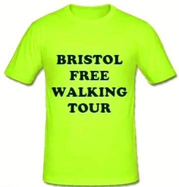 Bristol Free Walking Tour Green Shirt