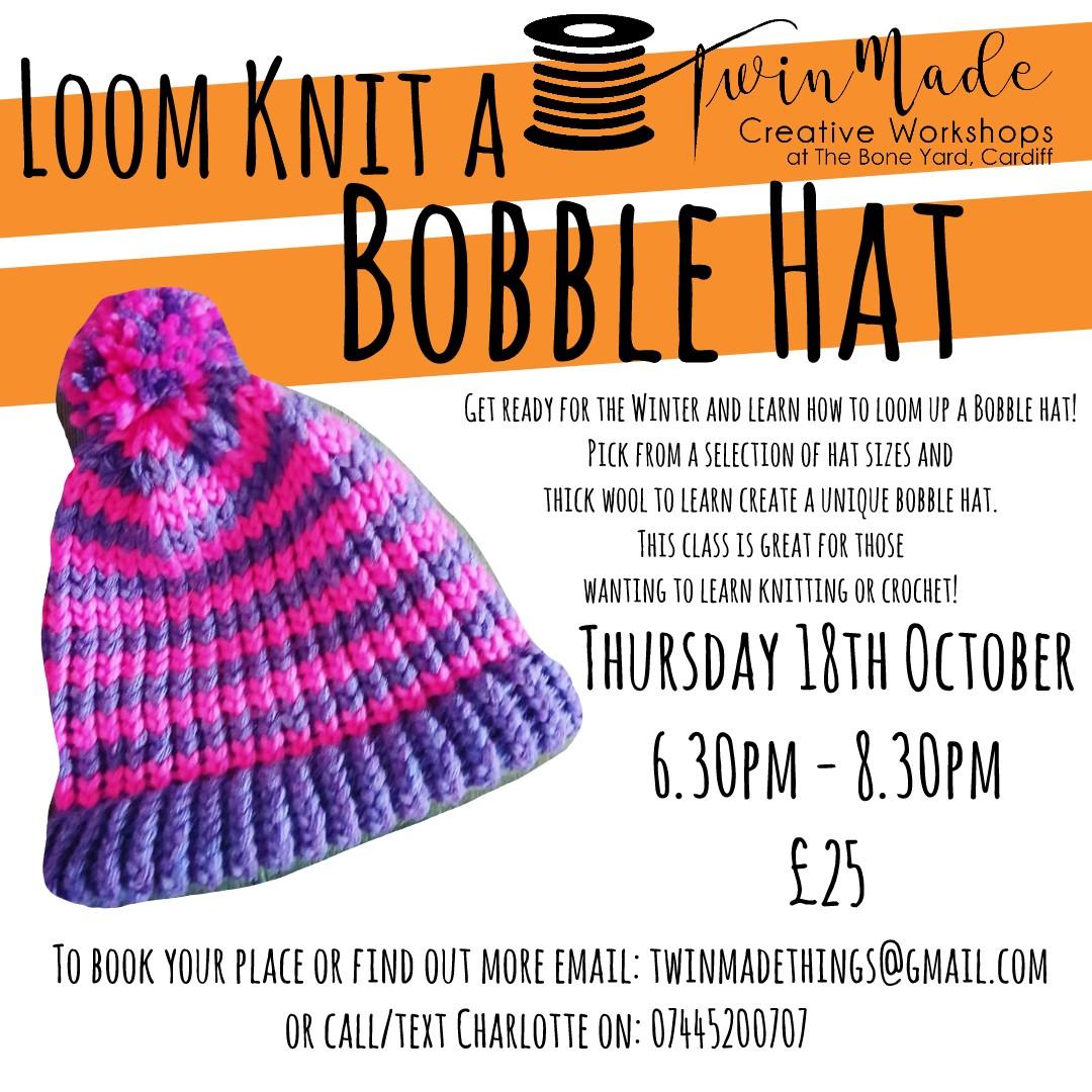 Loom Knit a Bobble Hat