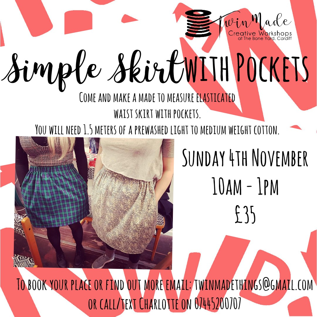 Simple Skirt with Pockets