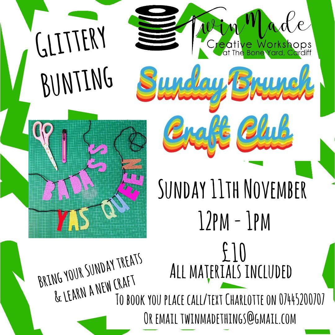 Sunday Brunch Craft Club Glittery Bunting