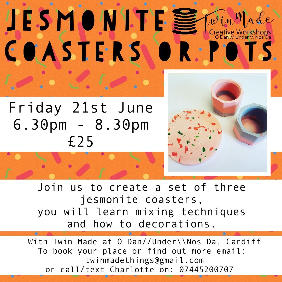 Jesmonite Coasters Or Plant Pots
