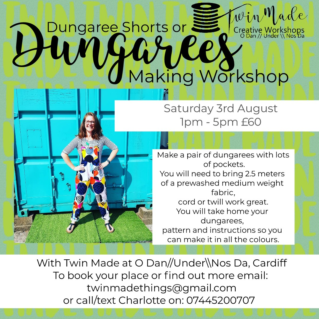 Saturday 3rd August - Dungarees 1pm - 5pm £60