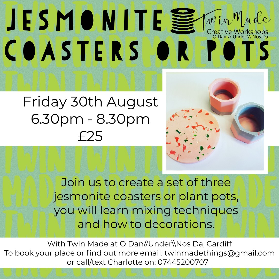 Friday 30th August - Jesmonite Coasters 6.30pm - 8.30pm £25