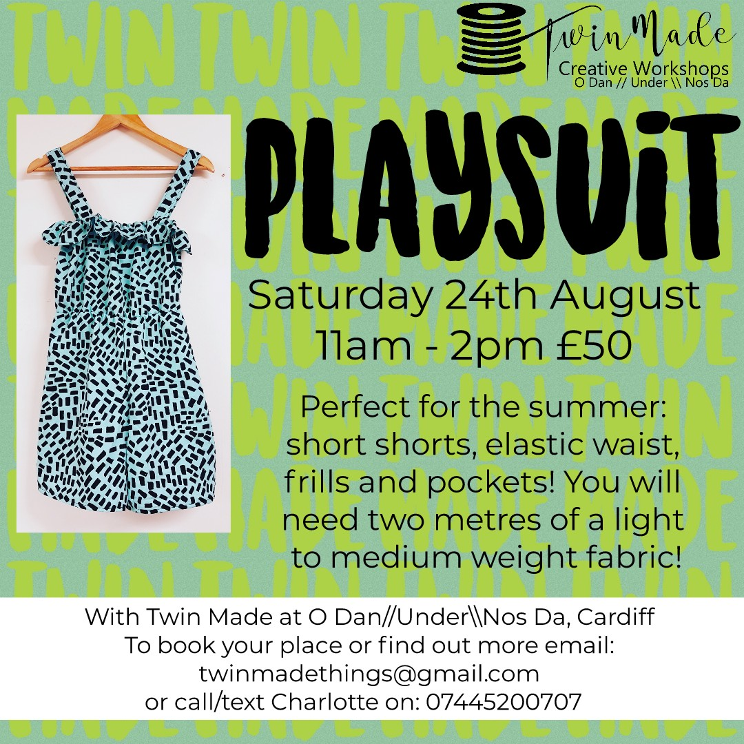 Saturday 24th August - Playsuit - 11am - 2pm £50