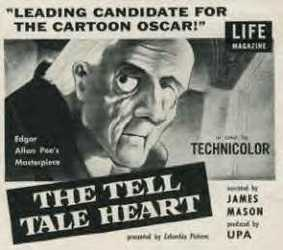 Ted Parmalee's  The Tell-Tale Heart  was one of several short features in the horror genre to garner Oscar recognition.