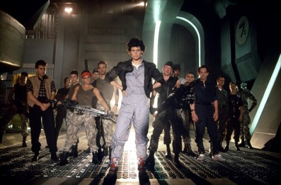 Aliens  (1986, Cameron) was more warmly embraced than  Alien  (1979, Scott) by the Academy, scoring seven Oscar nods, including two wins.