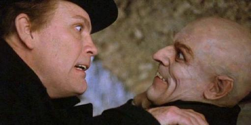 Willem Dafoe's scenery-chewing portrayal of  Nosferatu 's Max Schreck in  Shadow of the Vampire  (2000, Merhige) scored him a Best Supporting Actor Oscar nod.
