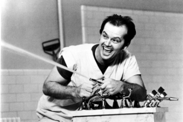 Jack Nicholson garnered his fifth Oscar nomination and first win for  One Flew Over the Cuckoo's Nest  (1975, Forman).