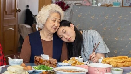 The magnificent Zhao Shuzhen and Awkwafina of  The Farewell