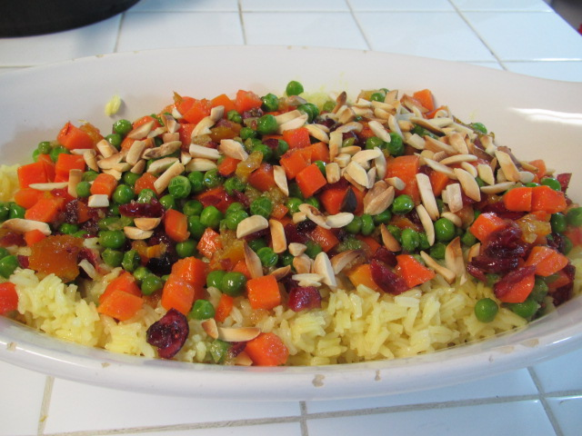 Vegetable Almond Rice Pilaf