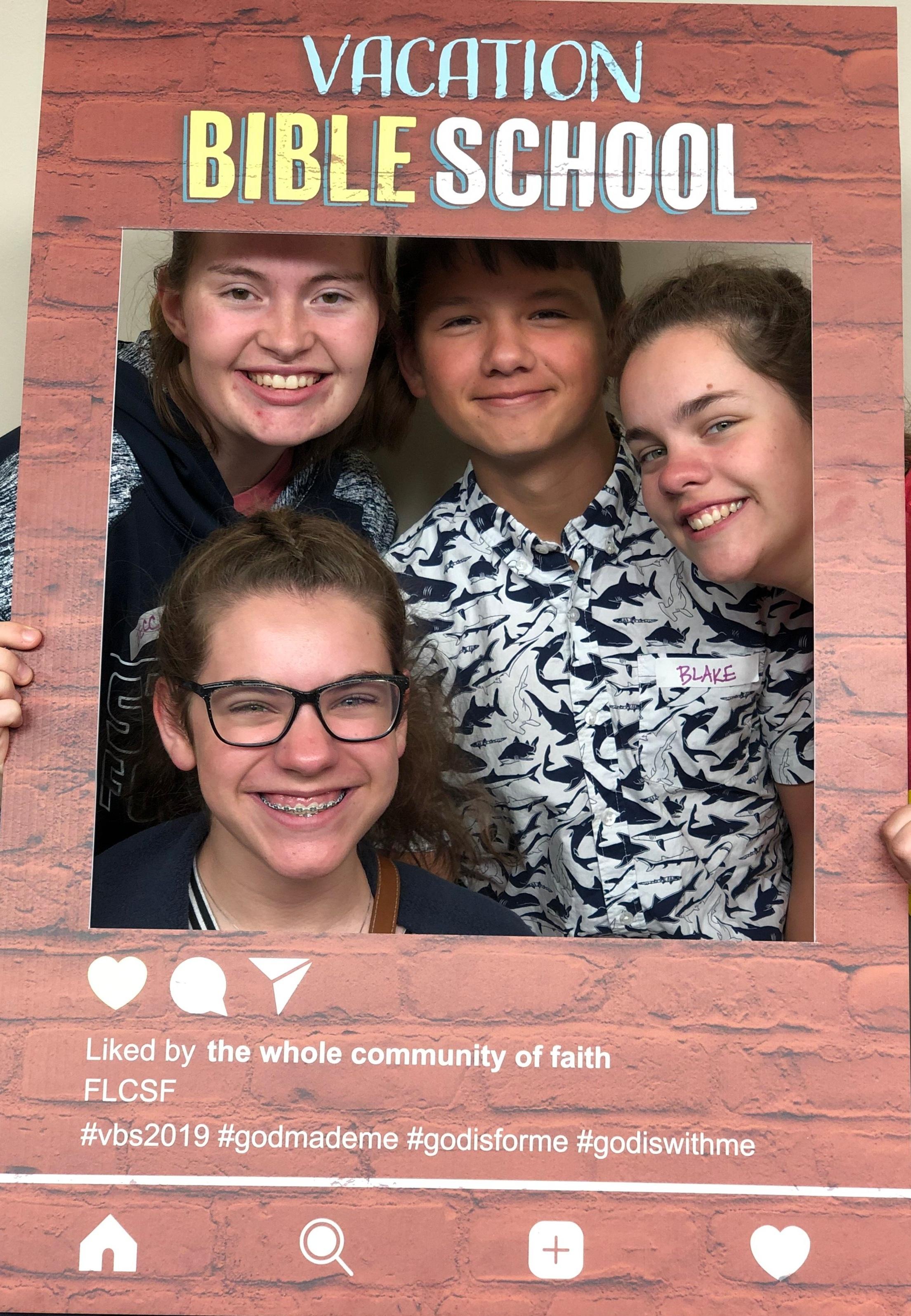 High school students volunteer with Summer Vacation Bible School