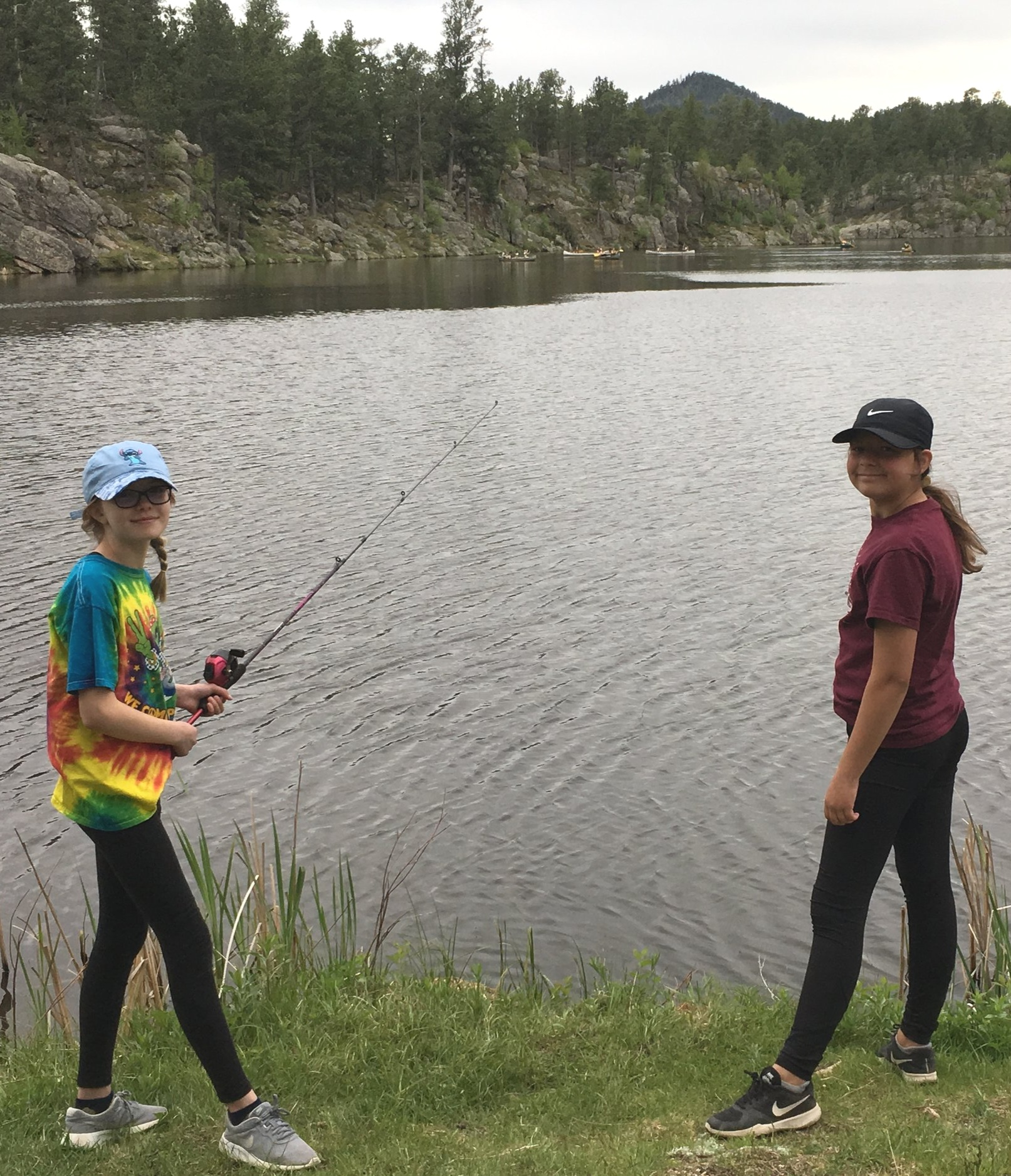 Campers enjoy the outdoors at Outlaw Ranch