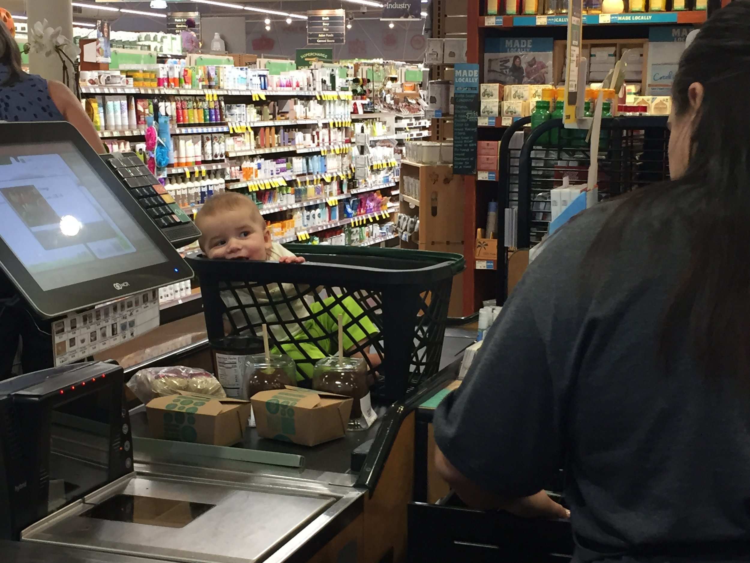 Whole baby @ Whole Foods: organic, free range, 300% price increase...cash only. Comes with two caramel apples on the side.