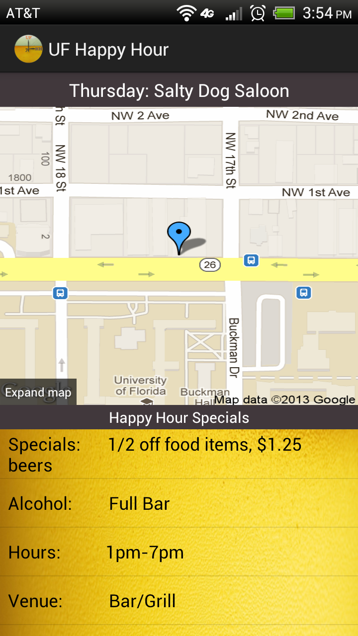 Happy Hour Details