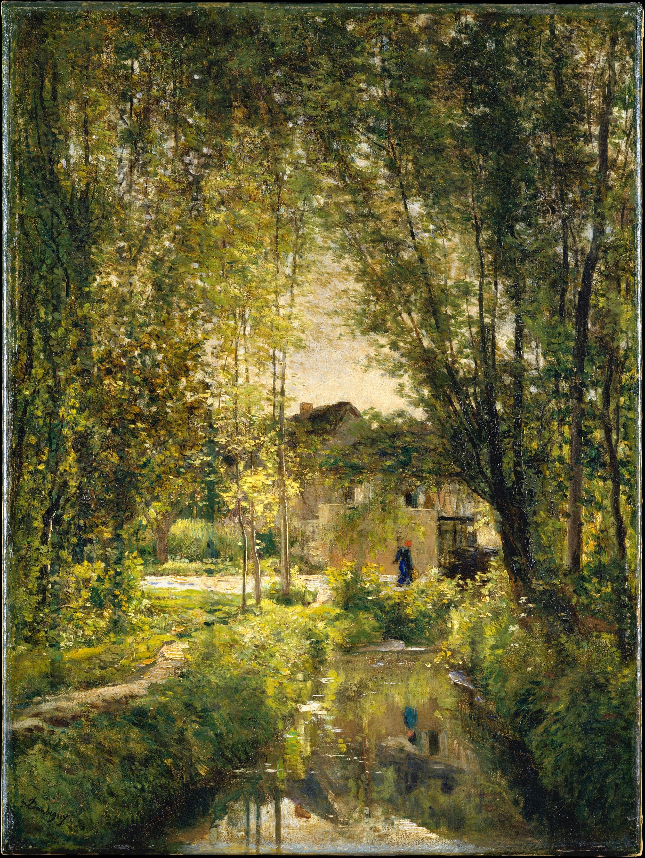Charles-François Daubigny • Landscape with a Sunlit Stream