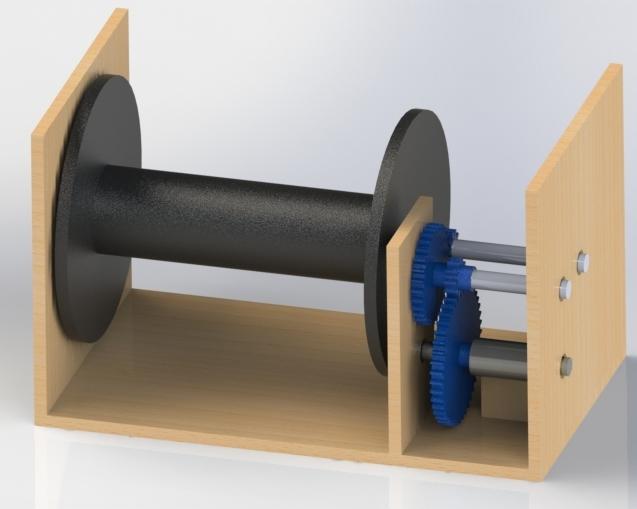 CAD render of reel design