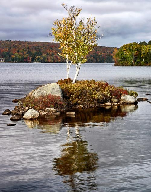 Adirondack lake and small island