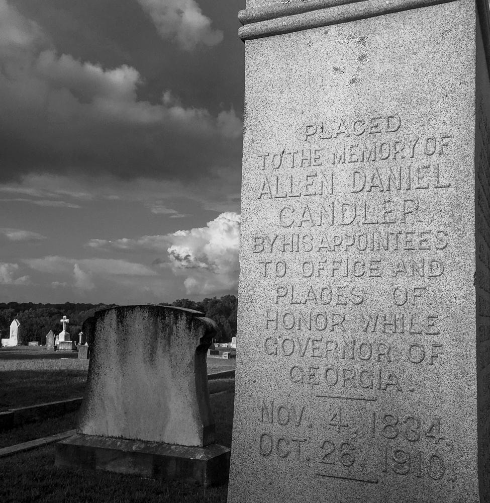 Governor Candler's grave in Alta Vista Cemetery in Gainesville, Georgia