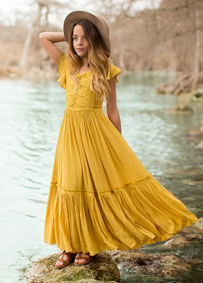 Joyfolie Viola Dress in Mustard - Price: $68.00Size: ANY- 2-6. Please make sure this is the little girls dress size.You Get: Add this on to any other donation to get 5 bonus images$125 value