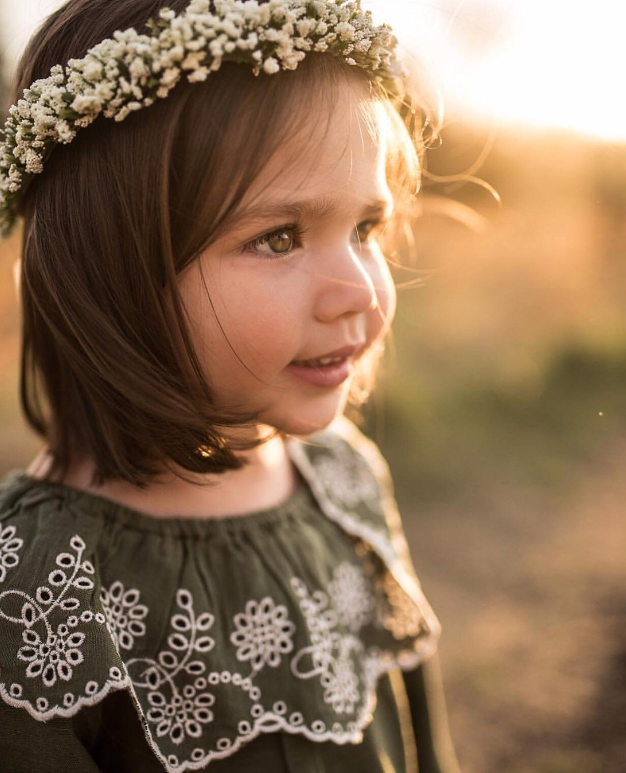 Mason and Harlow Baby's Breath Floral Crown - Price: $42.00- $45.00Size: Baby or ToddlerYou Get: Add this on to any other donation to get 3 bonus images$75 value