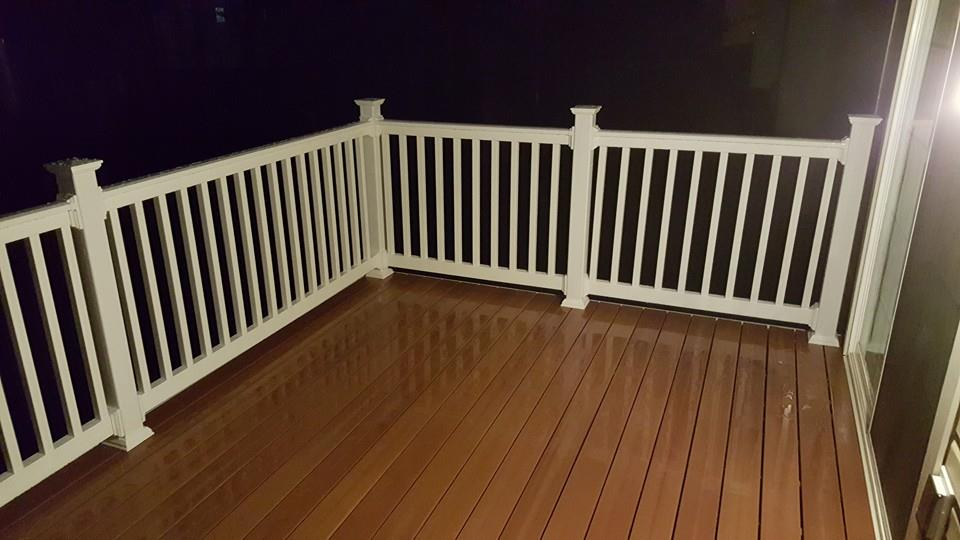"Western Cedar Decking, 42"" rail upgrade"