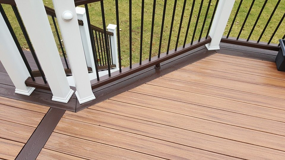 Beautiful Trex decking with Timbertech Railings