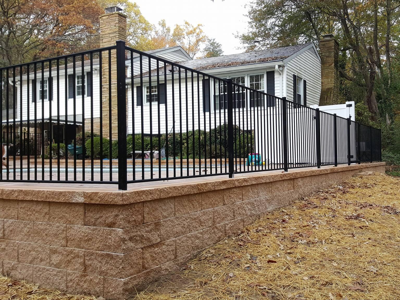 Pool Fence - Black Aluminum
